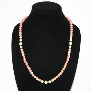 Beautiful rose and cream natural stone necklace